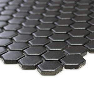 Hexagon Klinker Mosaik Svart Matt 23x26mm