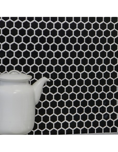 Hexagon Klinker Mosaik Svart Matt 23x26mm