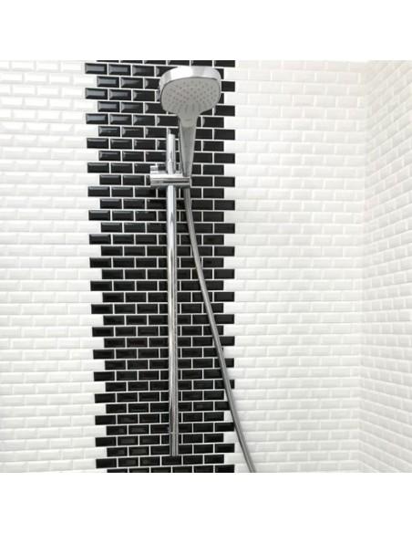Brickmosaik Murförband Diamant Svart