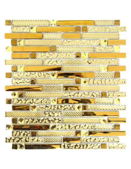Guld Kristall Stavmosaik Mix