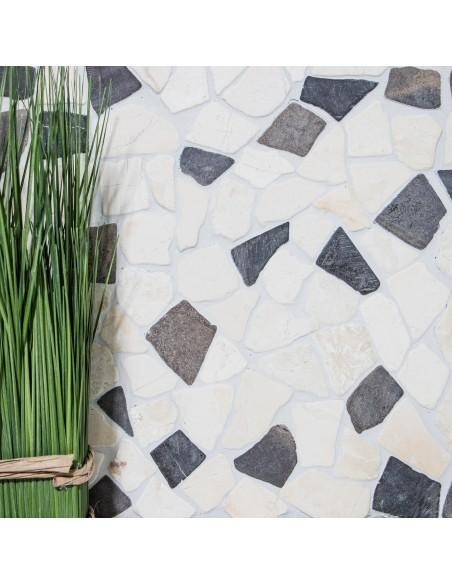 Natursten Marmor Krossmosaik Biancone Java | Ekosten.se
