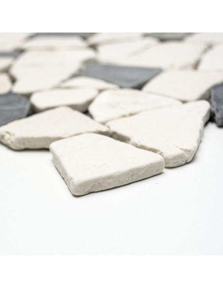 Natursten Marmor Krossmosaik Biancone Java