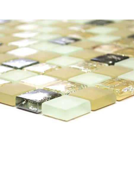 Kristallmosaik Mussla Beige Freeze Mix   Ekosten.se