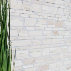 Brickmosaik Natursten Marmor Biancone