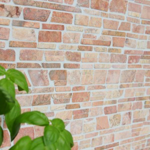 Brickmosaik Natursten Marmor Rosso Verona