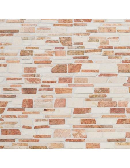 Brickmosaik Natursten Marmor Biancone Rosso