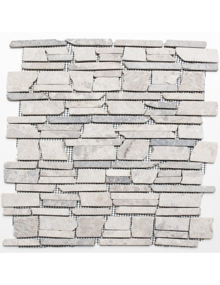 Brickmosaik Natursten Marmor Grigio