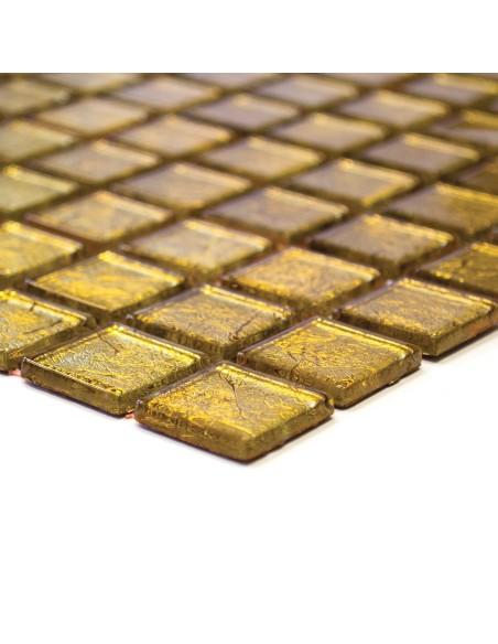 Guld Kristallmosaik Struktur 23x23x4mm