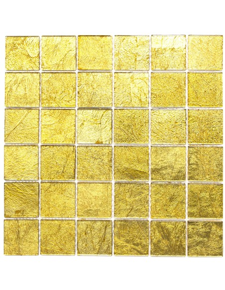 Guld Kristallmosaik Struktur 48x48x4mm