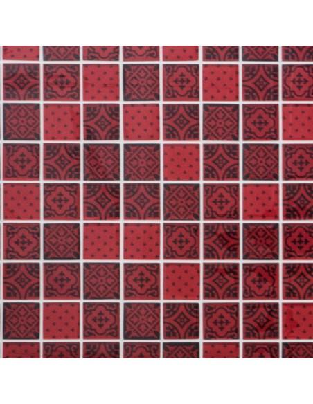 Mönstrad Glasmosaik Optik Röd