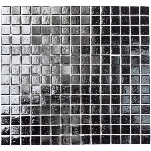 Glas Mosaik Plattor Svart