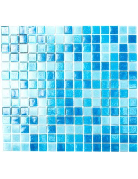 Glas Mosaik Plattor Blå Mix