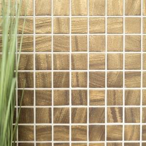 Eco Glas Mosaik Satin Guld