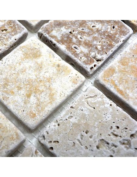 Natursten Mosaik Travertin Mix Tumlad