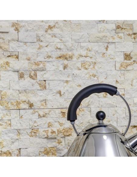 Splitface Marmormosaik Ljusbeige 3D 25x50mm | Ekosten.se