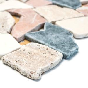Marmor Natursten Krossmosaik Mix