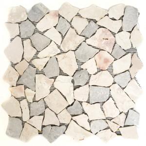 Marmor Krossmosaik Grå Beige Mix