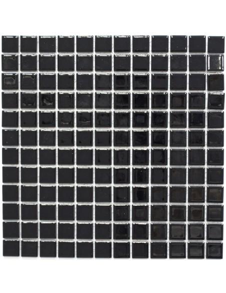 Svart Keramik Mosaik Blank 23x23mm