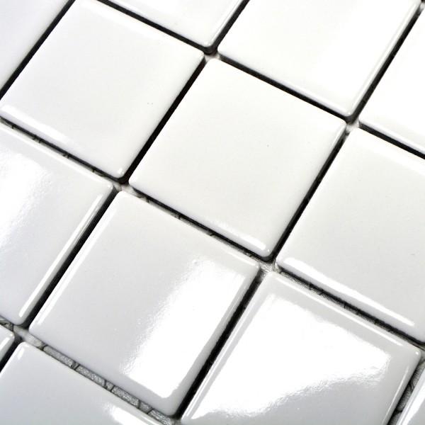 Vit Keramik Mosaik Blank 48x48mm
