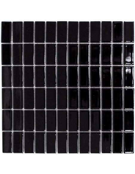Brickmosaik Svart Blank