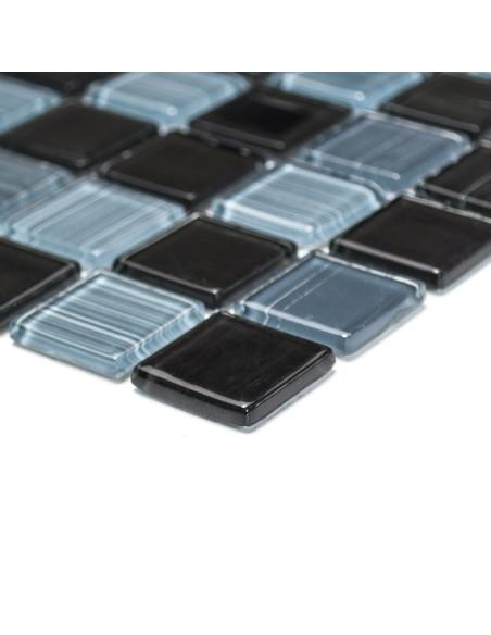 Mosaik Plattor Kristall Streck Svart Mix