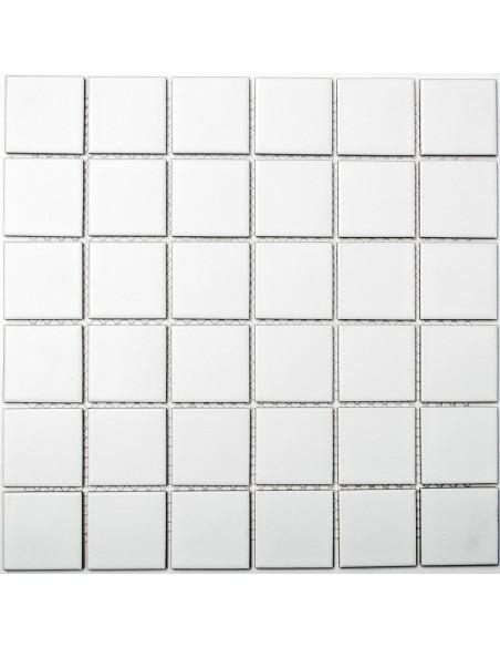 Vit Klinker Mosaik Matt 48x48mm