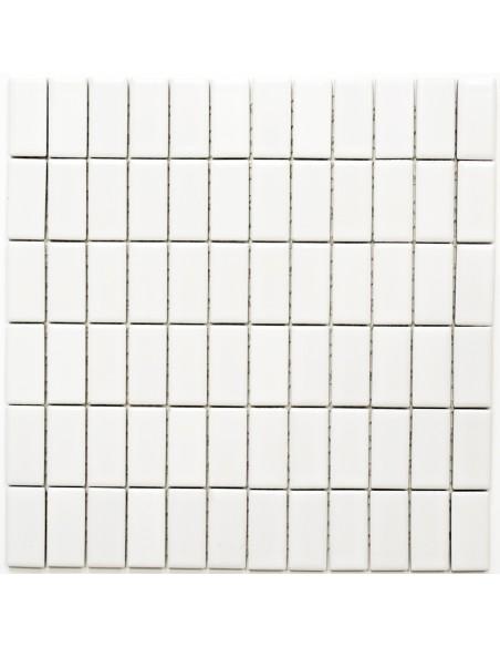 Brickmosaik Vit Matt