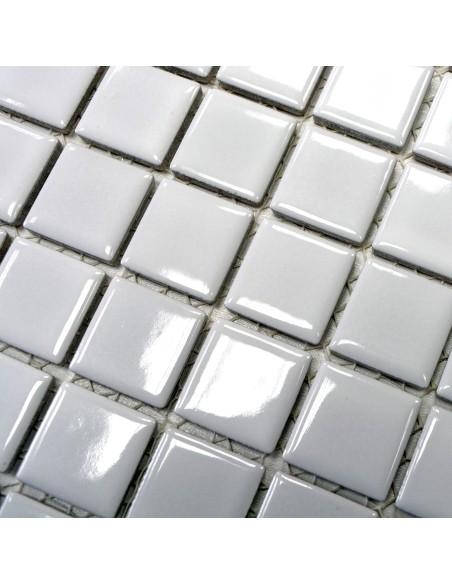 Vit Keramikmosaik Plattor Blank