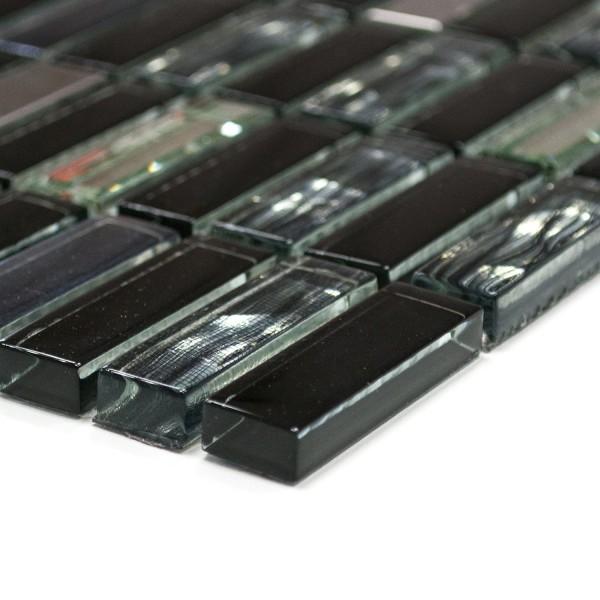 Stavmosaik Kristall Metall Mix Svart | Ekosten.se
