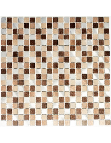 Metall Mosaik Aluminium Koppar Mix