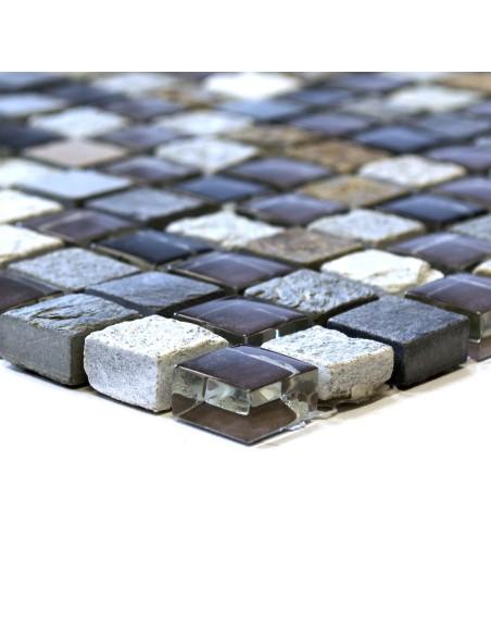 Mosaik Kristall Natursten Skiffer Mix
