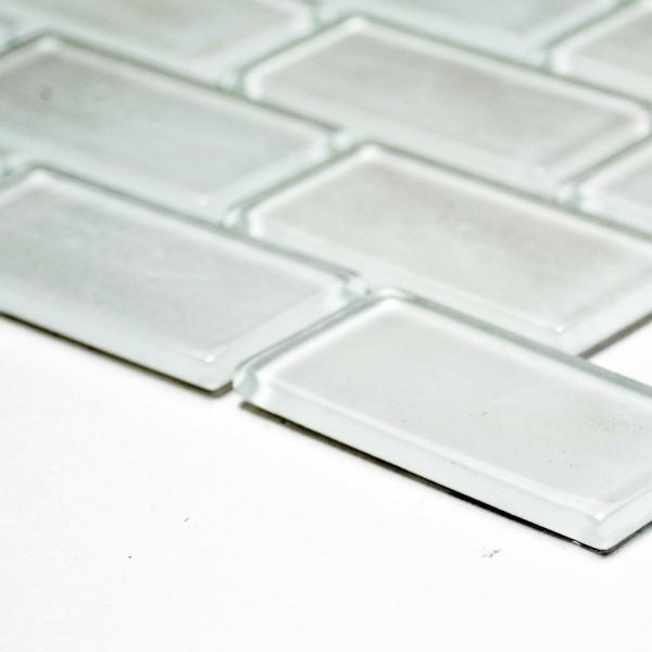 Brickmosaik Murförband Kristall Vit