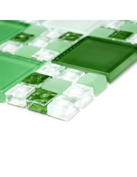 Kombi Mosaik Kristall Grön Mix