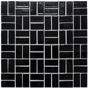 Mosaik Keramik Väderkvarn Svart Blank