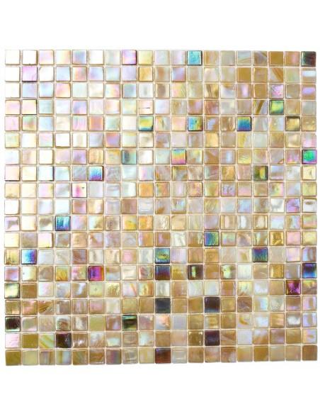 Glas Mosaik Plattor Beige Mix Glänsande