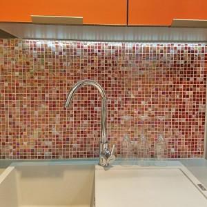 Glas Mosaik Plattor Röd Mix Glänsande