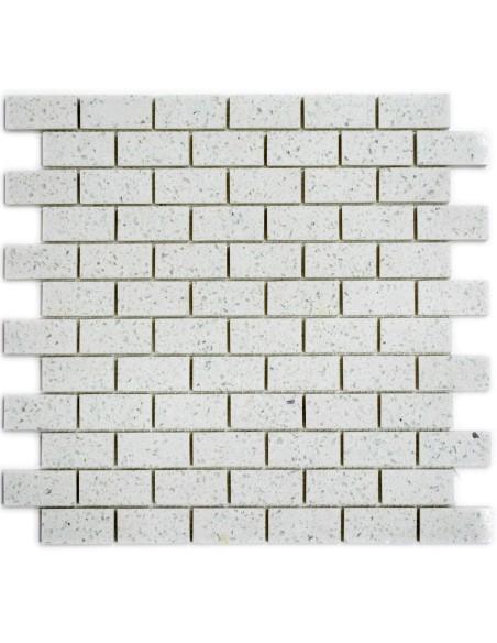 Komposit Brickmosaik Murförband Vit | Ekosten.se
