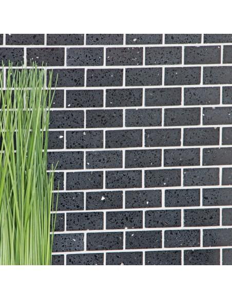 Komposit Brickmosaik Murförband Svart