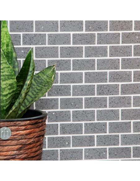 Komposit Brickmosaik Murförband Grå