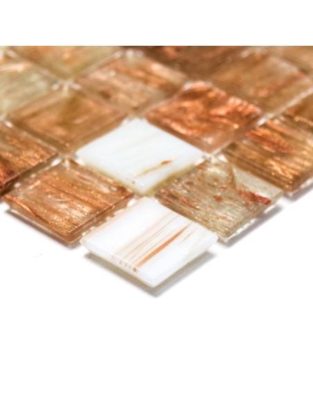 Glas Mosaik Guldstar Brons Mix