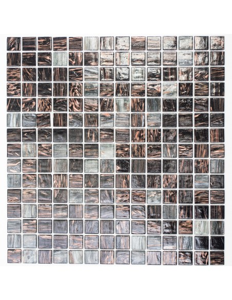 Glas Mosaik Guldensilk Grå Mix