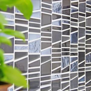 Svart Kristall Marmor Mosaik Stege