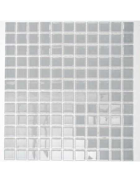 Kristall Glasmosaik Plattor Ljusgrå