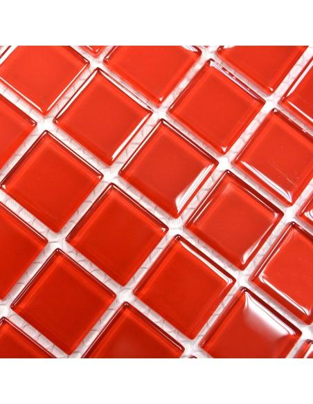 Kristall Glasmosaik Plattor Röd
