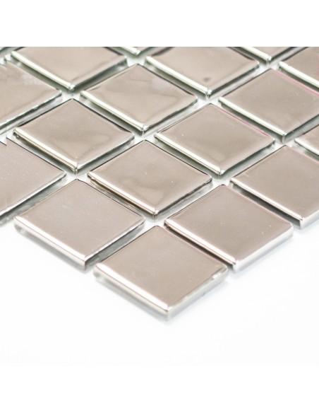 Silver Kristall Glasmosaik Blank | Ekosten.se