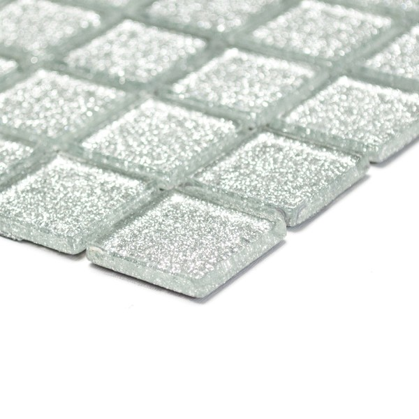 Glitter Silver Kristall Glasmosaik   Ekosten.se