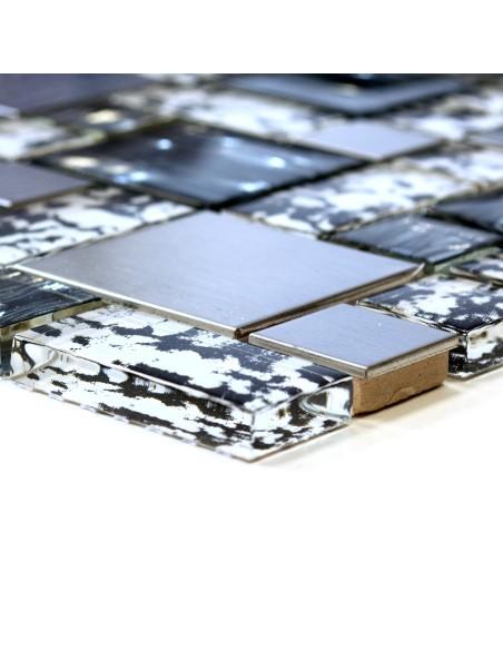 Kristall Silver Kombi Mosaik Svart Mix
