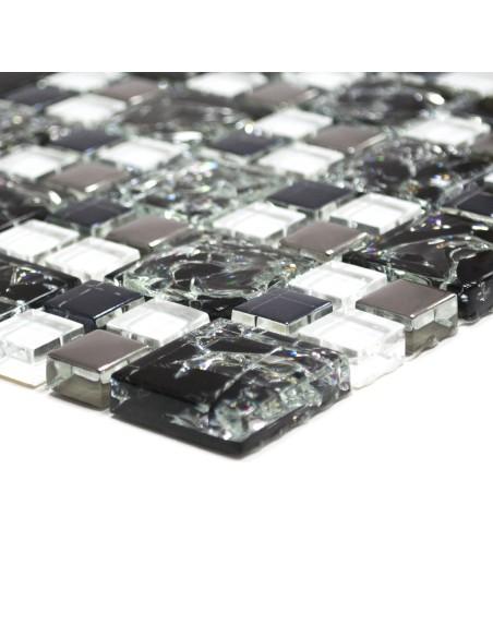 Kristallmosaik Svart Silver Mix
