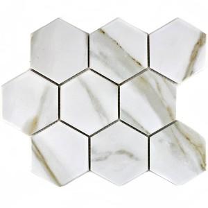 Hexagon Calacatta Klinkermosaik