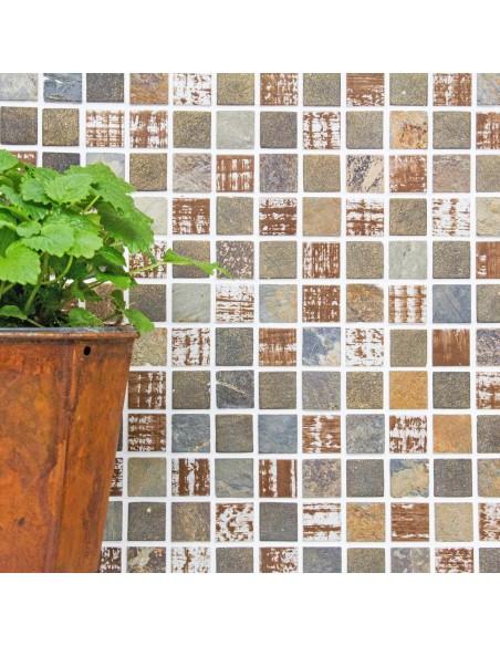 Rustik Mosaik Kristall Skiffer Mix | Ekosten.se
